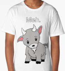 Meh. - Goat of indifference  Long T-Shirt