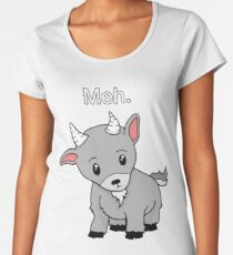 Meh. - Goat of indifference  Women's Premium T-Shirt