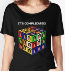 Funny Rubiks Cube It's Complicated! Women's Relaxed Fit T-Shirt