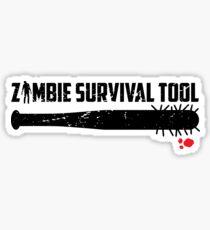 Zombie survival tool Sticker