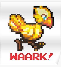 Chocobo - Waaark! : Inspired By Final Fantasy VII Poster