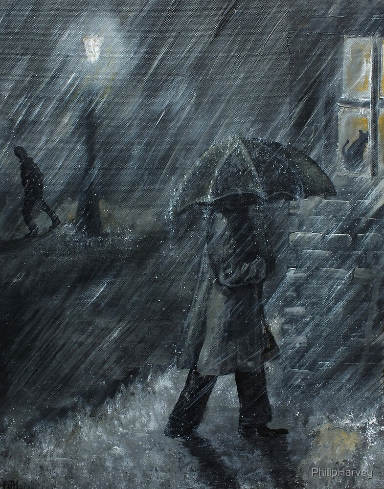 Trudging in the Rain by PhilipHarvey