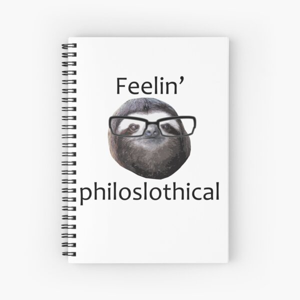 Feeling philoslothical Spiral Notebook
