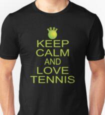 Funny Keep Calm And Love Tennis Ball Sports T-Shirt