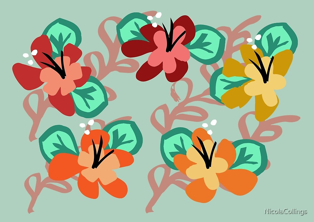 Flower pattern - Women's Floral Fashion by NicolaCollings