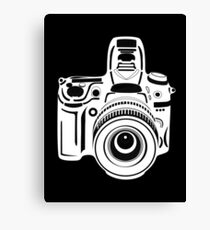 Black and White Camera Canvas Print