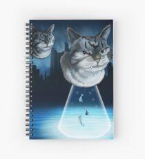Alien kitten Spiral Notebook