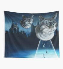 Alien kitten Wall Tapestry