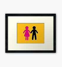 Colorful Pair Framed Print