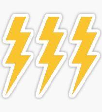 Lightening Strikes Three Times Sticker