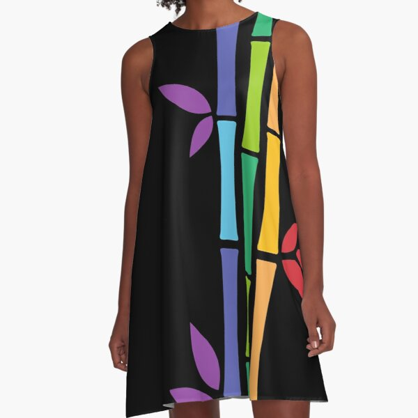 Rainbow Bamboo A-Line Dress