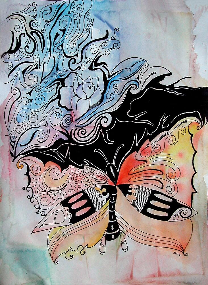 butterfly by Sena Goztepeli