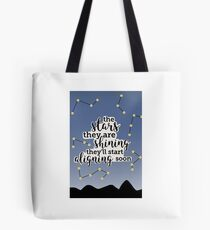 """So Close"" Lyric Art Tote Bag"