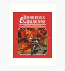 AD&D/Dungeons and Dragons Logo Art Print