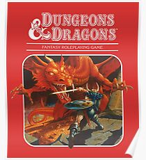 AD&D/Dungeons and Dragons Logo Poster