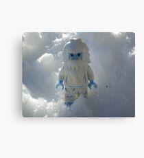 Yeti in the Snow Canvas Print