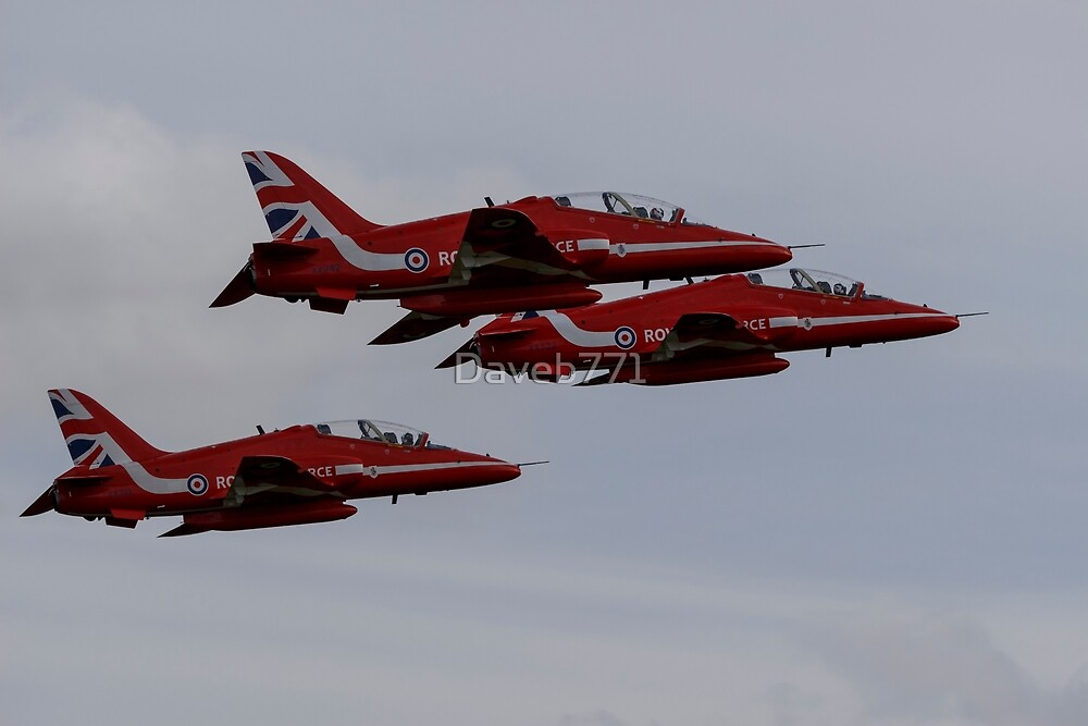 Red Arrows Departing Exeter Airport by Daveb771