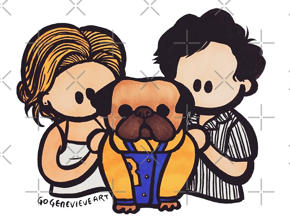 Bughead and Doug the Pug by gogenevieve