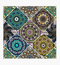 Colorful floral seamless pattern Photographic Print