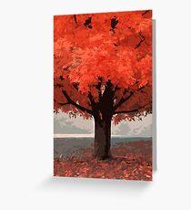 In a beautiful autumn morning Greeting Card
