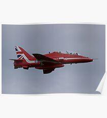 Raf Red Arrows Hawk T1 Poster