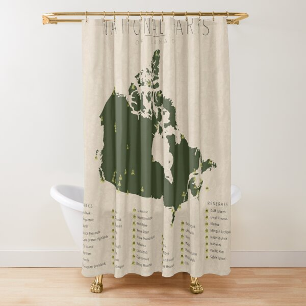 National Parks of Canada Shower Curtain