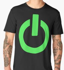 Power Button (green) Men's Premium T-Shirt