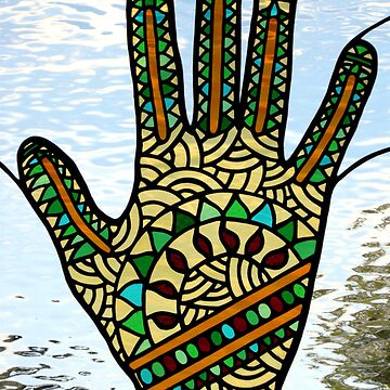 "Stained Glass ""Mehndi Hand"" (rendition) by neilsglass"
