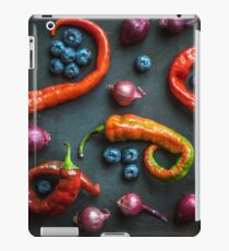 Peppers, blueberries and baby red onions No. 32 iPad Case/Skin