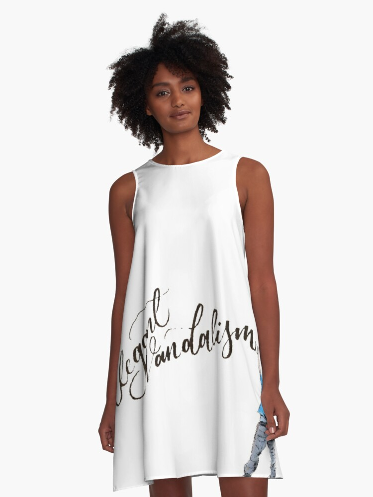 Elegant Vandalism  A-Line Dress Front