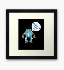 Kids 6th Birthday Boys Robot Science 6 Year Old Gift Framed Print