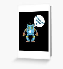 Kids 6th Birthday Boys Robot Science 6 Year Old Gift Greeting Card
