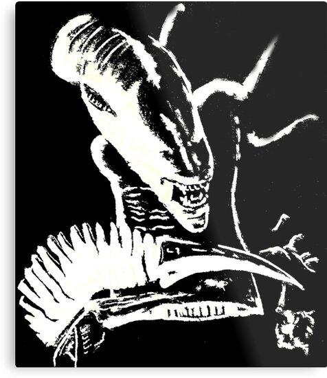 An Alien in the moonlight by CarolineArts