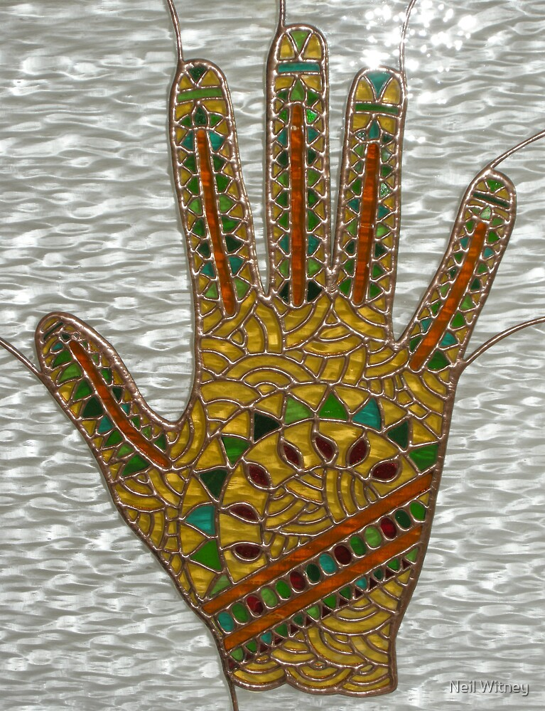Mehndi Hand (indoor close-up photograph) by Neil Witney