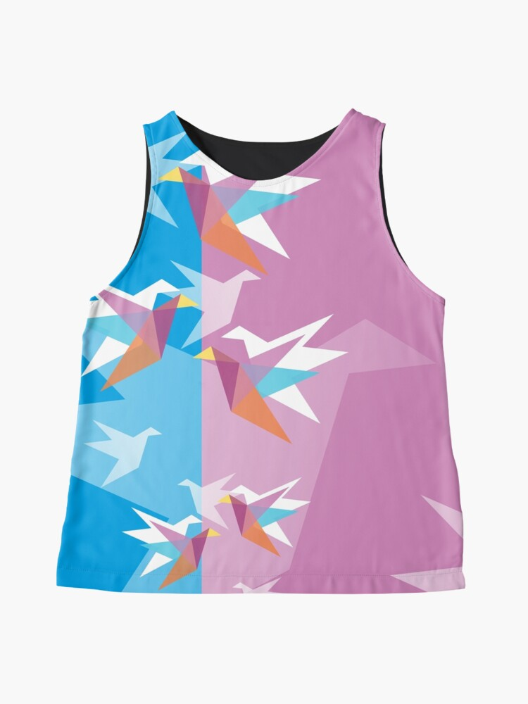 Alternate view of Pastel Paper Cranes Sleeveless Top