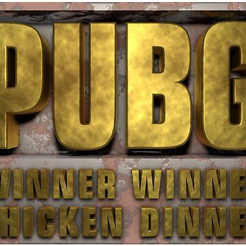 PUBG Playerunknowns Battlegrounds Winner winner chicken dinner by Delpieroo