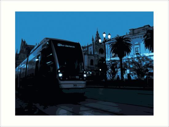 Sevillean Night  by Andrea Mazzocchetti
