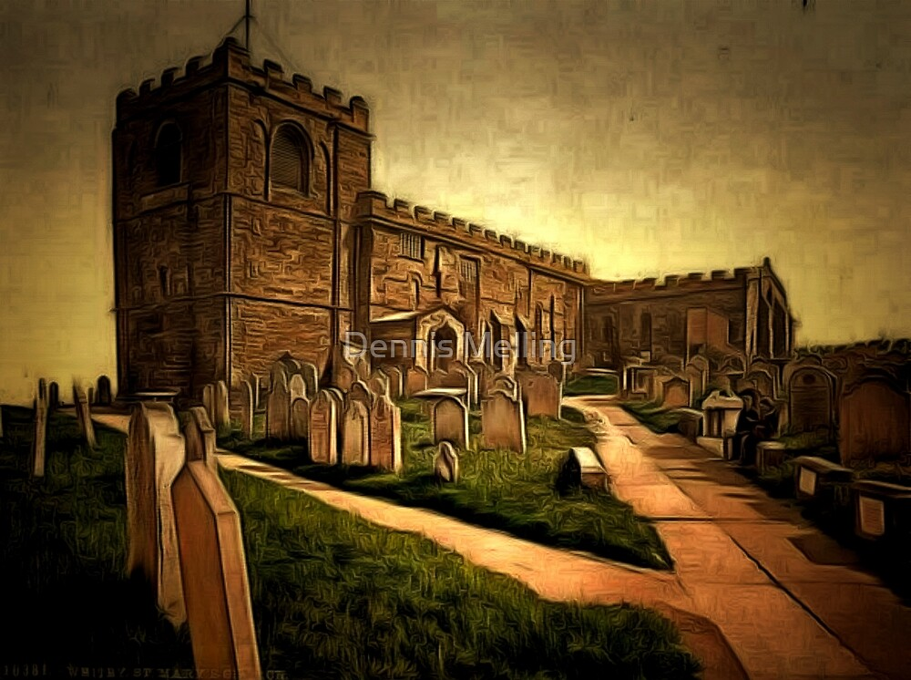 The Church of Saint Mary is an Anglican Parish Church in the town of Whitby in North Yorkshire England by Dennis Melling