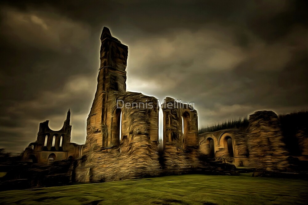 The Ruins of Byland Abbey in the Ryedale District of North Yorkshire, founded 1135 by Dennis Melling