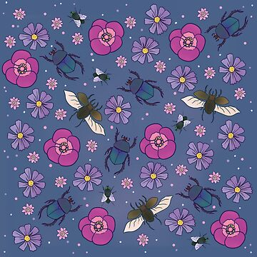 Flowers and insects - cute floral pattern by spectralstories