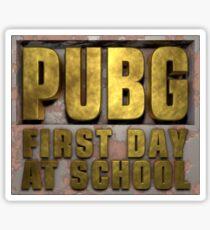 PUBG Playerunknowns Battlegrounds 1 Day at School Sticker