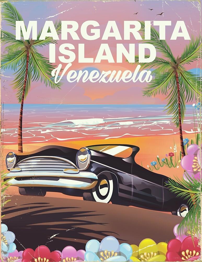 Margarita Island - Venezuela travel poster by vectorwebstore