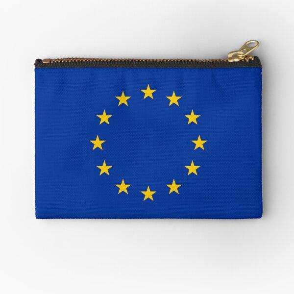 EU, European Flag, Euro, Flag of Europe, European Union, Flag, Brussels, Brexit. Zipper Pouch