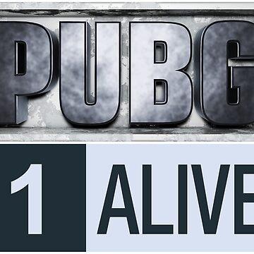 PUBG Playerunknowns Battlegrounds 1 alive by Delpieroo