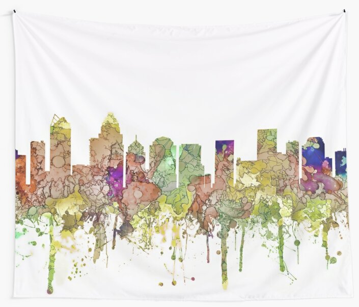 Charlotte, NC Skyline - Faded Glory by Marlene Watson