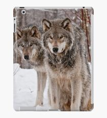 Timber Wolf Pair iPad Case/Skin