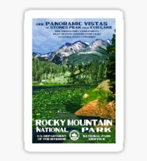 Vintage Travel Poster – Rocky Mountain National Park	 Sticker