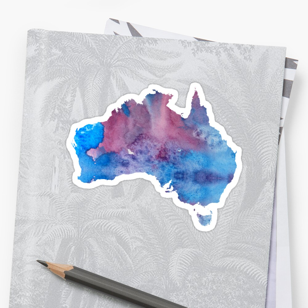 Colorful australia silhouette Sticker
