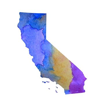 Colorful california silhouette by BittenByErmines