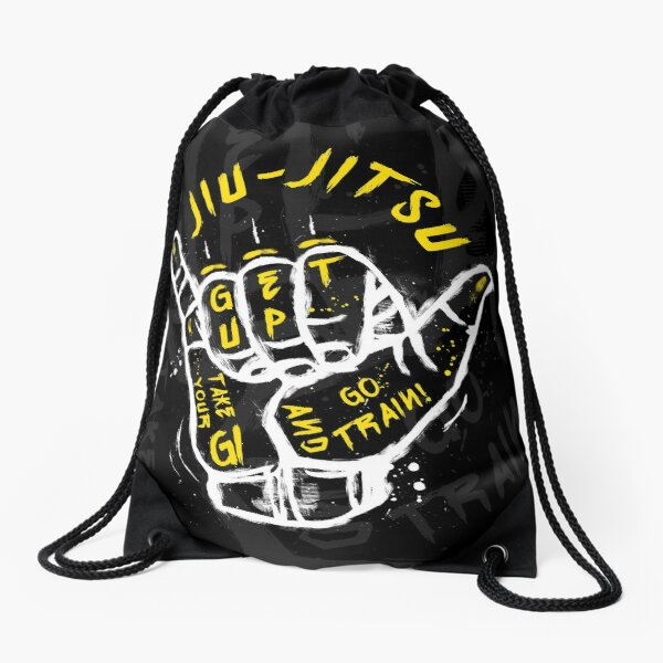Jiu-jitsu. Go train! 2 Drawstring Bag